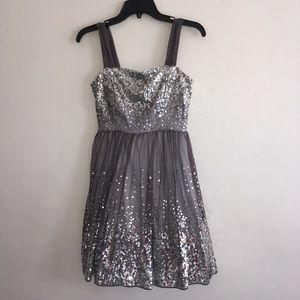 Delia*s taupe Sequin Dress